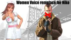 Female Voice remplace for Niko для GTA 4