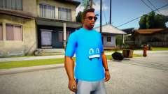 Blue t-shirt для GTA San Andreas