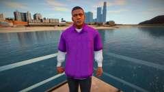 Франклин в фиолетовой рубашке для GTA San Andreas