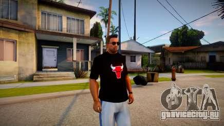 Chicago Bulls Shirt Black для GTA San Andreas