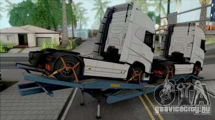 Transporter Cargo Truck Trailer для GTA San Andreas