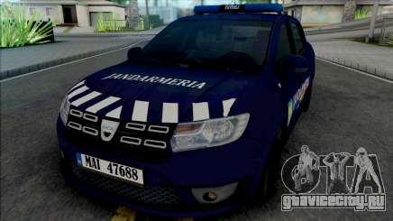 Dacia Logan 2018 Jandarmerie для GTA San Andreas
