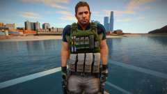 Chris Redfield from Resident Evil 6 Skin для GTA San Andreas