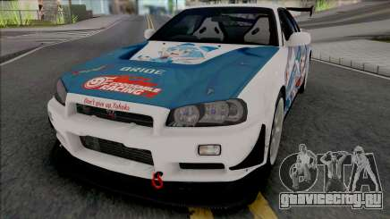 Nissan Skyline GT-R R34 Itasha [Fixed] для GTA San Andreas