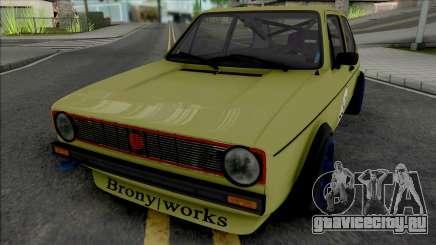 Volkswagen Golf MK1 Brony Works Race Car для GTA San Andreas