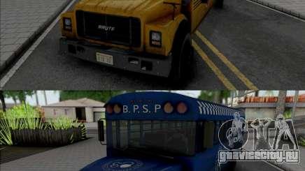 GTA V Brute Prison and School Bus для GTA San Andreas