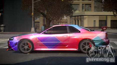 Nissan Skyline R34 PSI-S S4 для GTA 4