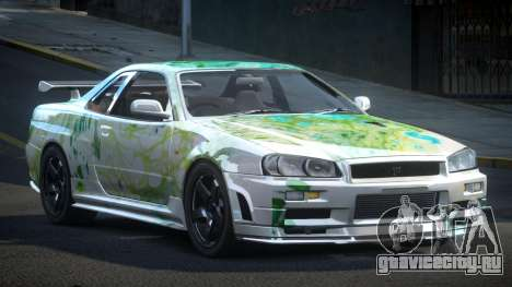 Nissan Skyline R34 PSI-U S1 для GTA 4