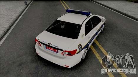 Toyota Corolla 2013 Israeli Police для GTA San Andreas