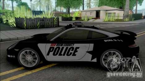 Porsche 911 Turbo 2014 Police для GTA San Andreas