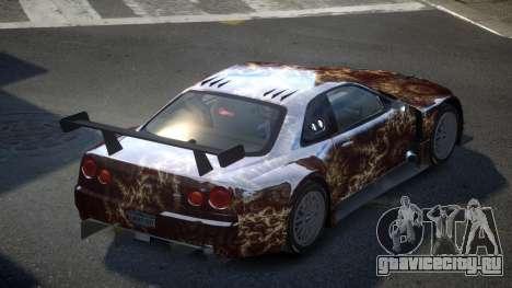 Nissan Skyline R34 US S2 для GTA 4