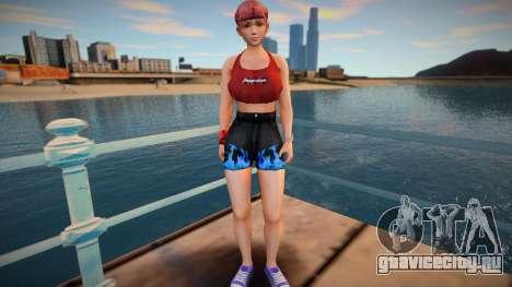 DOA Honoka Fashion Casual V2 Denins Shorts для GTA San Andreas