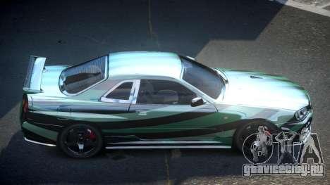 Nissan Skyline R34 PSI-U S3 для GTA 4