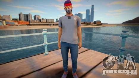 Персонаж из GTA Online в гриме и в очках для GTA San Andreas