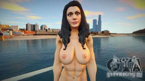 Wonder Woman nude skin для GTA San Andreas