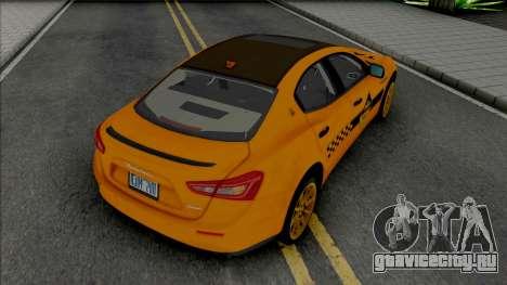 Maserati Ghibli III Taxi (Carbon) для GTA San Andreas