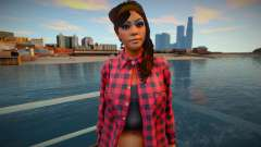 Девушка в рубашке для GTA San Andreas