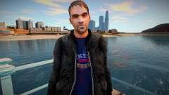 Прохожий в чёрной куртке для GTA San Andreas