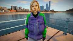 Девушка блондинка в куртке для GTA San Andreas