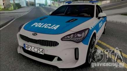 Kia Stinger GT Policja WRD KSP для GTA San Andreas
