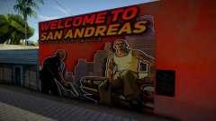 Mural - Welcome to San Andreas для GTA San Andreas