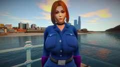 KOF Soldier Girl - Blue Brown Hair 3 для GTA San Andreas
