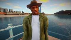 Cj With Camo Pants and Cowboy Hat (ped Model) для GTA San Andreas