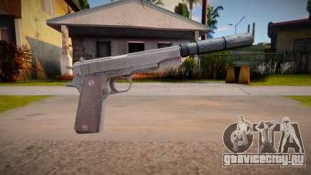 Colt M1911 with silenced для GTA San Andreas
