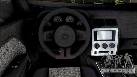 Dodge Challenger SRT8 2012 [ADB IVF VehFuncs] для GTA San Andreas
