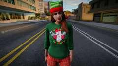 Девушка в новогодней одежде 1 для GTA San Andreas