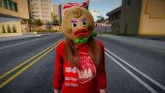 Девушка в новогодней одежде 6 для GTA San Andreas