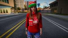 Девушка в новогодней одежде 5 для GTA San Andreas
