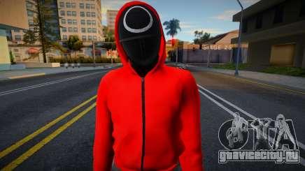 Male Random Guard N1 Squid Game для GTA San Andreas