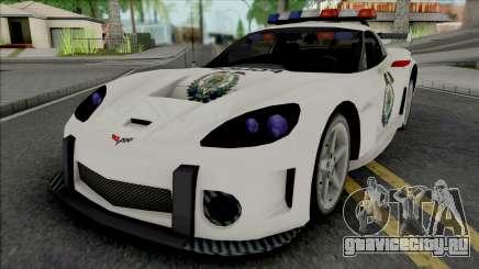 Chevrolet Corvette C6 RPD (NFS Most Wanted) для GTA San Andreas