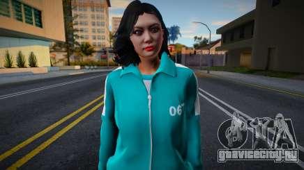 Female Asian Tracksuit 067 Squid Game для GTA San Andreas